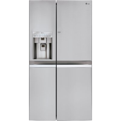 14.3 cu. ft. Side-by-Side Refrigerator in Stainless Steel with Door-in-Door Product Photo