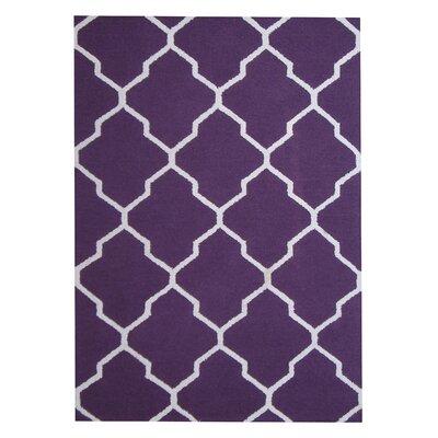 Hand-Tufted Purple/Ivory Indoor Area Rug by Herat Oriental