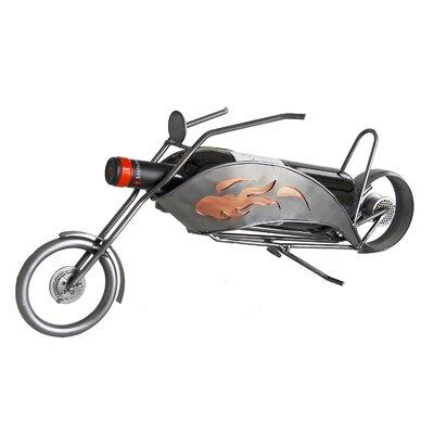 H & K SCULPTURES Motorcycle Chopper Wine Bottle Holder