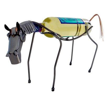 H & K SCULPTURES Horse 1 Bottle Tabletop Wine Rack