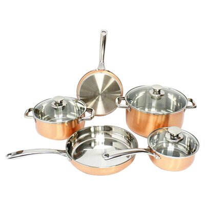 Copper 8 Piece Cookware Set by Gourmet Chef