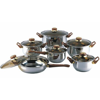 12 Stainless Steel Piece Cookware Set by Gourmet Chef