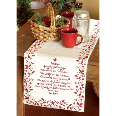 Heritage Lace Christmas Time Table Runner