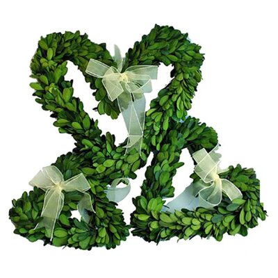 Mills Floral 3 Piece Boxwood Wreath Set with Ribbon