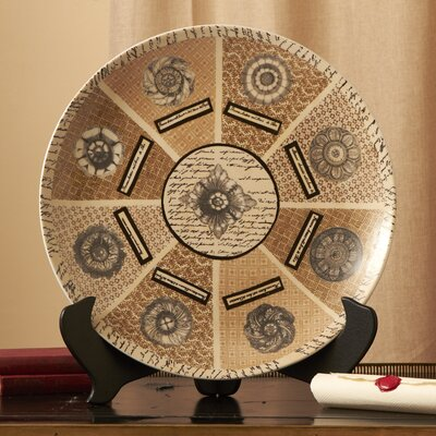 Via Santo Spirito Large Decorative Platter with Stand by Twos Company