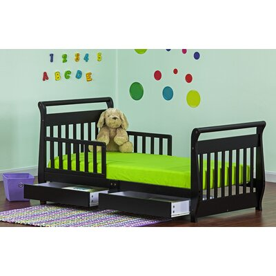 Dream On Me Sleigh Toddler Bed with Storage