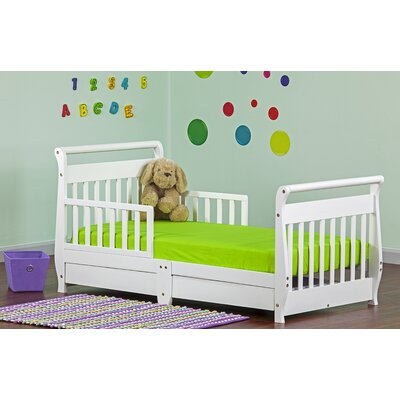 Cherry Sleigh Toddler Bed Sleigh Toddler Bed With