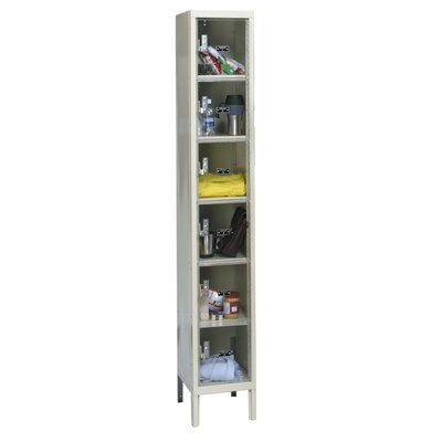 Hallowell Safety-View 6 Tier 1 Wide Plus Box Locker