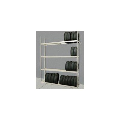 "Hallowell Rivetwell Tire Storage 120"" H 4 Shelf Shelving Unit Starter"
