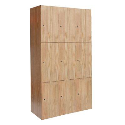 Hallowell All-Wood Club 3 Tier 3 Wide Locker
