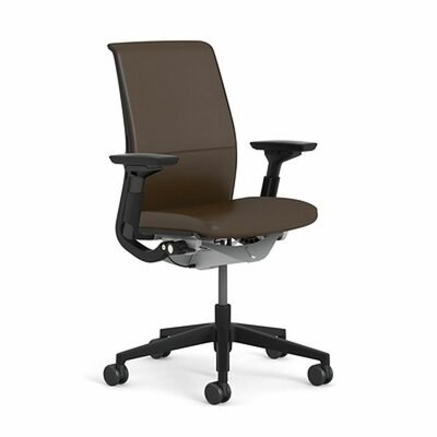 think leather office chair by steelcase