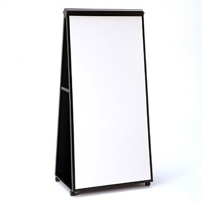 Steelcase Groupwork Easel Mobile Free Standing Whiteboard, 6' x 3'
