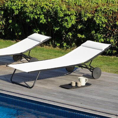 Lafuma miami chaise lounge - Chaise camping lafuma ...