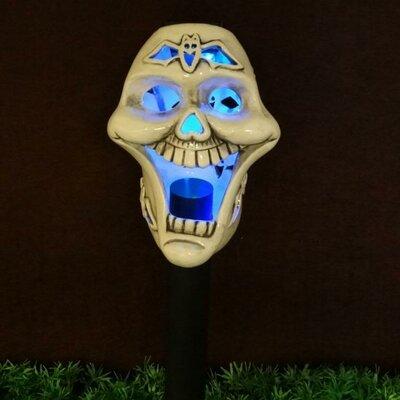 Skull Ceramic Solar Powered Changing LED Light by BZB Goods