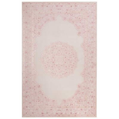 Fables Ivory/Pink Area Rug by Jaipur Rugs