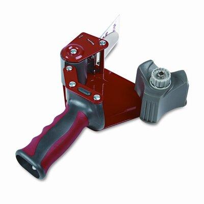 "3M Foam Handle Pistol Grip Packaging Tape Dispenser, 3"" core, Metal, Red"