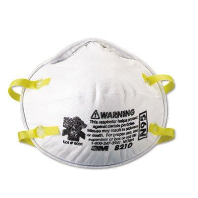 3M Lightweight Particulate Respirator 8210, 20/Box