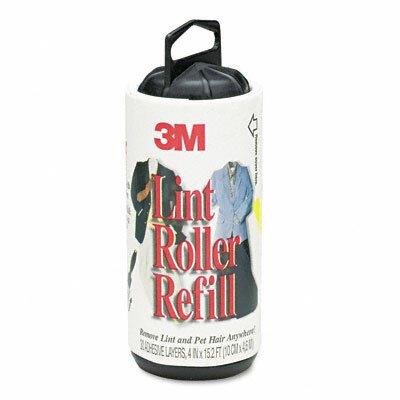 3M Scotch-Brite Lint Roller Refill Roll, 30 Sheets/Roll