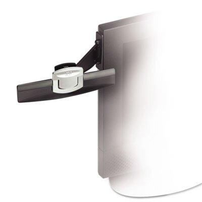 3M Swing Arm Copyholder, Adhesive Monitor Mount, Plastic, 30 Sheet Capacity