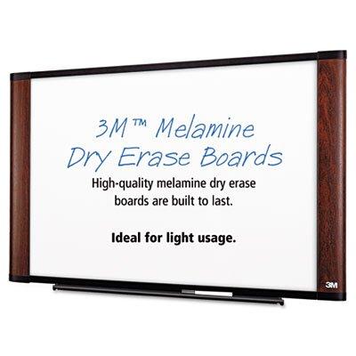 3M Melamine Dry Erase Wall Mounted Whiteboard, 3' x 4'