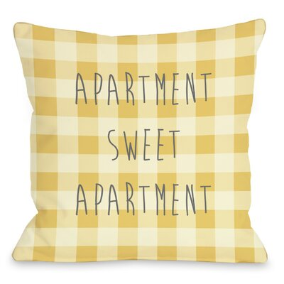 Apartment Sweet Apartment Gingham Throw Pillow by One Bella Casa