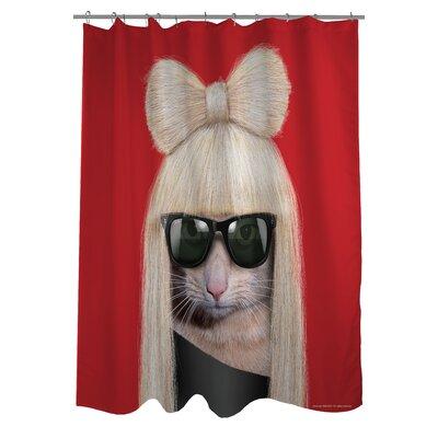 One Bella Casa Pets Rock GG Shower Curtain