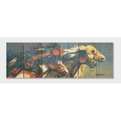 Signature 1 Night Raid Full Color Cedar Wall Art by Gizaun Art