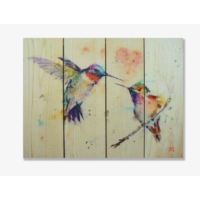 Signature 1 Love Bird Full Color Cedar Wall Art by Gizaun Art