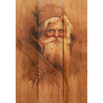 Father Christmas 3 Piece Textual Art by Gizaun Art
