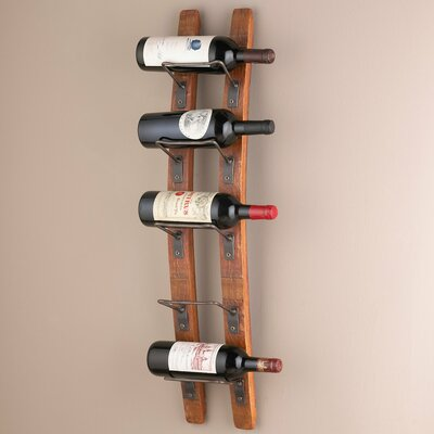 Barrel Stave Wall Mounted 5 Bottle Wine Rack by Wine Enthusiast Companies