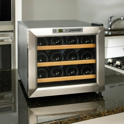 Silent Series 12 Bottle Single Zone Built-In Wine Refrigerator by Wine Enthusiast Companies