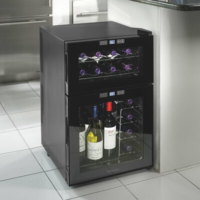 Silent Series 24 Bottle Dual Zone Freestanding Wine Refrigerator by Wine Enthusiast Companies