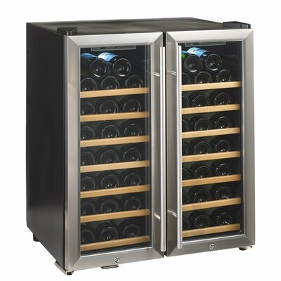 Silent Series 48 Bottle Dual Zone Free-Standing Wine Refrigerator by Wine Enthusiast Companies