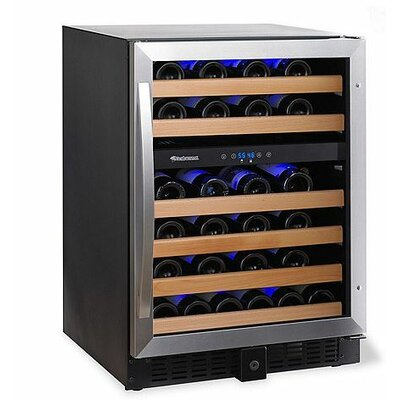 Classic 46 Bottle Dual Zone Built-In Wine Refrigerator by Wine Enthusiast Companies