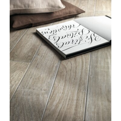"Lea Ceramiche Vivaldi 6"" x 24.25"" Porcelain Wood Tile in Winter"