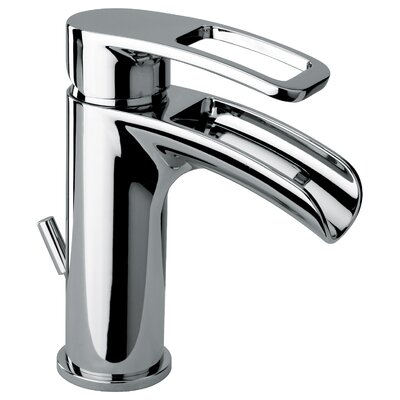 J10 Bath Series Single Loop Handle Bathroom Faucet with Waterfall Spout Product Photo