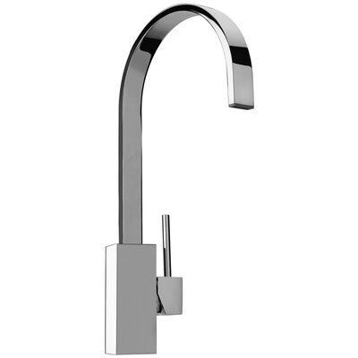 J25 Kitchen Series Single Hole Kitchen Faucet with Swivel Ribbon Arched Spout by Jewel Faucets ...