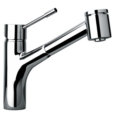 J25 Kitchen Series Single Hole Kitchen Faucet with Pull Out Spray Head Product Photo