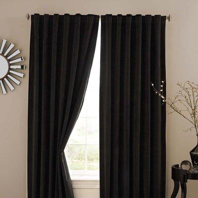 Absolute Zero Velvet Rod Pocket Window Curtain Panel Product Photo