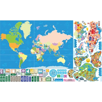 Mona Melisa Designs Peel, Play and Learn World Map