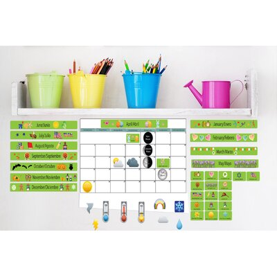 Mona Melisa Designs Educational Peel and Learn Calendar Wall Decal