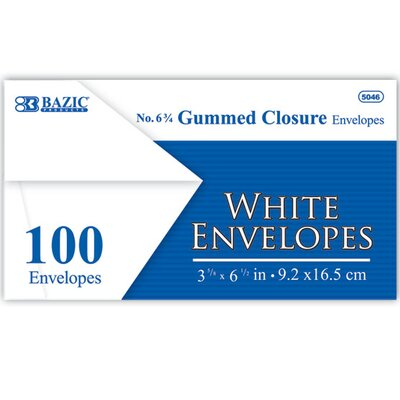 Bazic 100 Ct. Envelopes