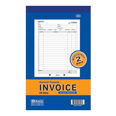 Bazic 2-Part Invoice