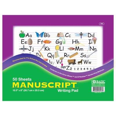 Bazic Manuscript Writing Pad