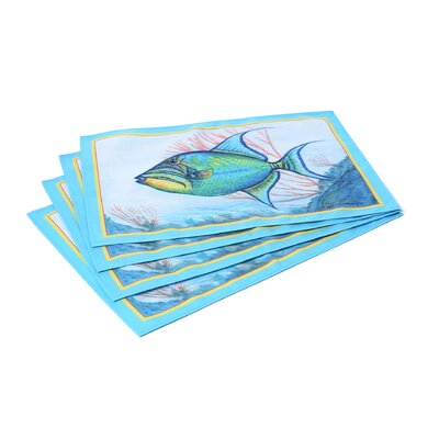 Trigger Fish Placemat by Betsy Drake Interiors