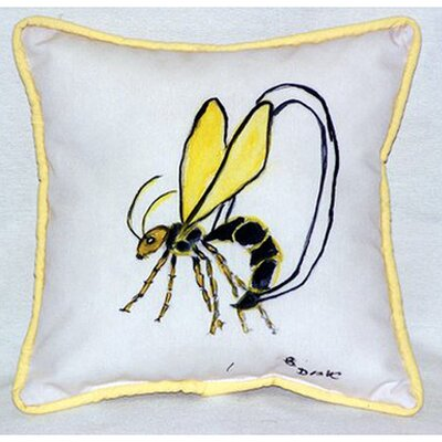Mosquito Indoor/Outdoor Throw Pillow by Betsy Drake Interiors
