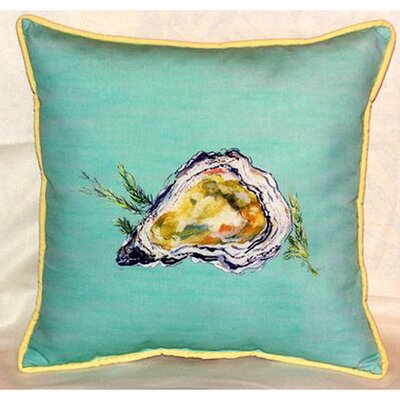 Oyster Indoor/Outdoor Throw Pillow by Betsy Drake Interiors