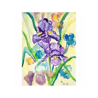 'Two Iris' Wall Art on Canvas by Betsy Drake Interiors