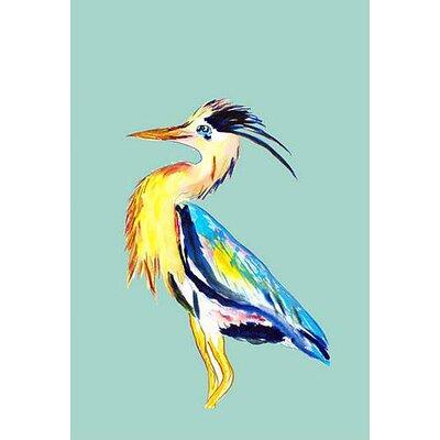 Betsy Drake Interiors Blue Heron Vertical Flag