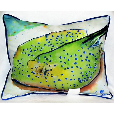Betsy Drake Interiors Coastal Stingray Indoor/Outdoor Lumbar Pillow